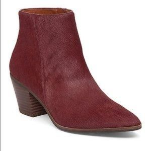 Lucky Brand Linnea Booties 8 Red Plum